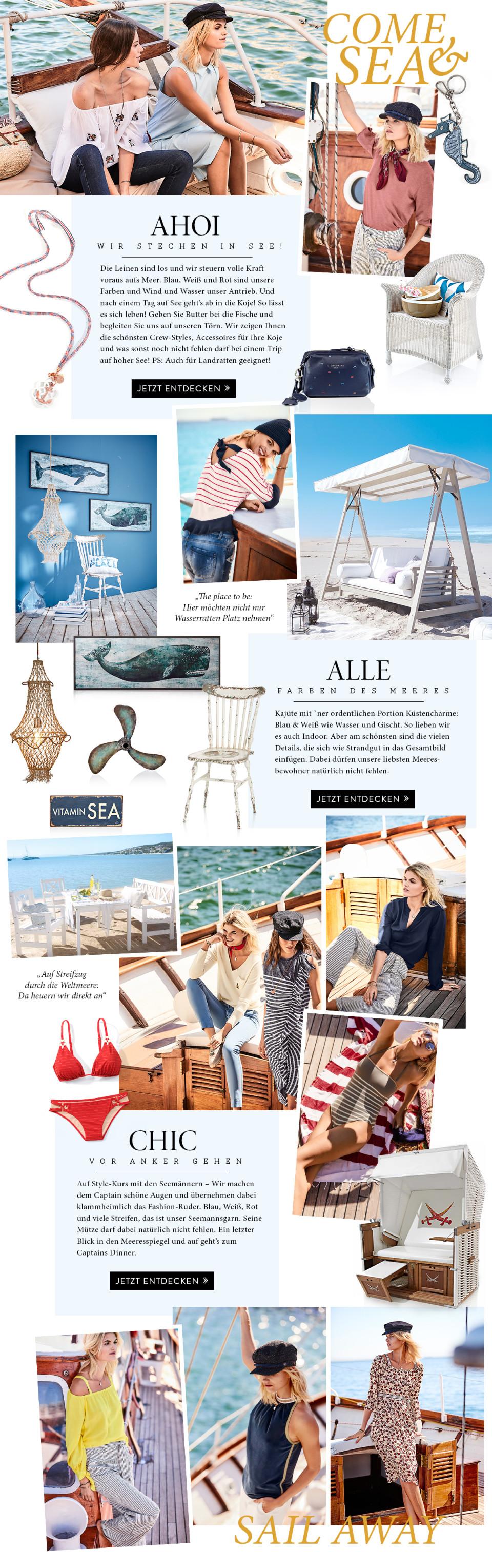 Maritime Mode Kleidung Ahoi Wir Stechen In See Impressionen